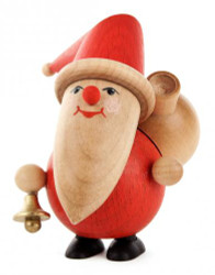 Santa Bell Wooden German Figurine FGD195X813