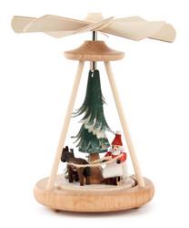 Mini Pyramid Santa Sleigh with Horse PYD074X240X7