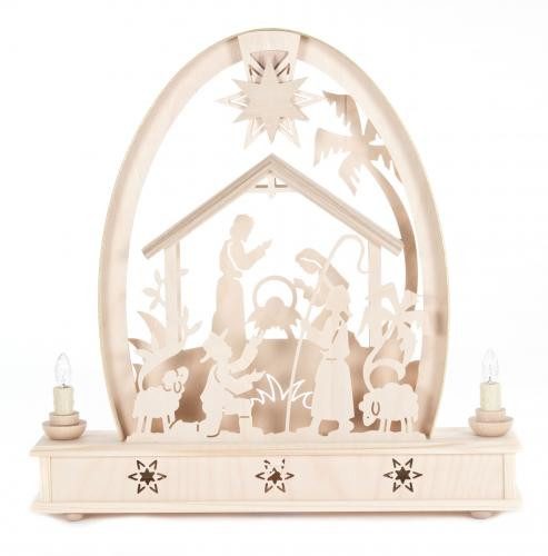 Nativity Village German Schwibbogen Candle Arch CHD202X581