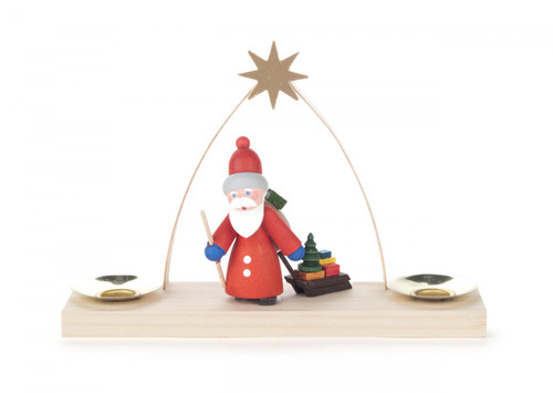 Arch Santa with Sled Candleholder CHD225X023