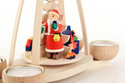 Santa Holiday Fun German Tea Light Pyramid PYD403X0193