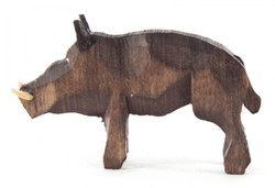 Warthog Boar German 1 inch Hand Carved Figurine FGD076X121