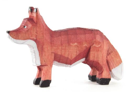 Fox Standing German Hand Carved Miniature Figurine FGD076X117X2