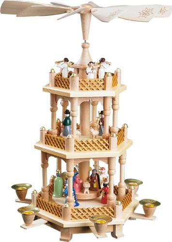 Nativity Christmas Pyramid 3 Level PYR167X20
