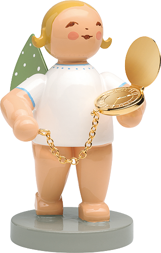 WENDT & KÜHN Blonde Angel with Pocket Watch Large 6 inch Figurine