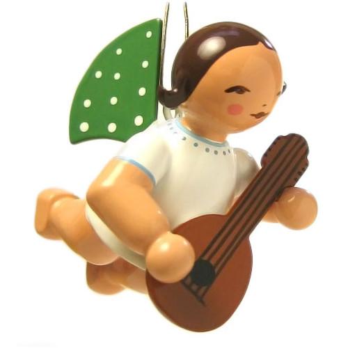 Wendt Kuhn Flying Angel Playing Mandolin German Ornament ORW650X130MAND
