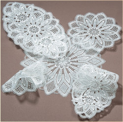 German Lace Round Doily 8 inch Table Topper LN2032-2