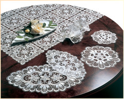 German Lace Oval Doily Verona 8x14 inch Table Topper
