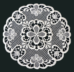 German Lace Round Doily Ravenna 8inch Table Topper LN2052-4