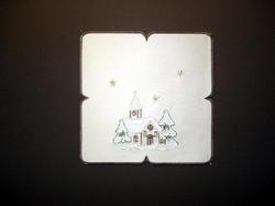 German Village Home Christmas Table Topper LNKIRCHE23SQ