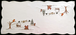 German Winter Woodland Christmas Table Topper LN4684