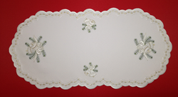German Holiday Christmas Bell Oval 9x18 Table Topper LN4730-1