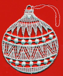 German Lace Christmas Ball Ornament LN-W1