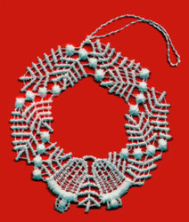 German Lace Christmas Wreath Ornament LN-W2