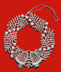 German Lace Christmas Wreath Ornament LN-W2