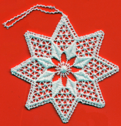 German Lace Christmas Star Ornament LN-W8