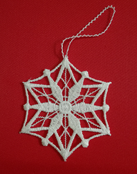 German Lace Christmas Snowflake Ornament LN-W34