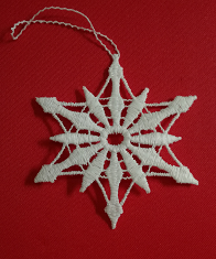 German Lace Christmas Snowflake Ornament LN-W33