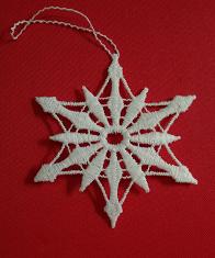 German Lace Christmas Snowflake Ornament LN-W33