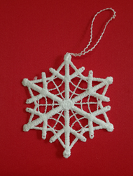 German Lace Christmas Snowflake Ornament LN-W32