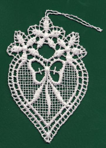 German Lace Heart Love Ornament LN-N1