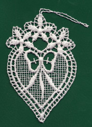 German Lace Heart Love Ornament LN-N1