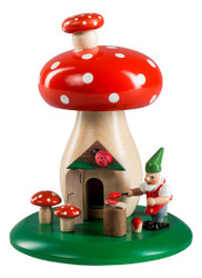Elf with Red Dot Mushroom German Smoker SMR265X30