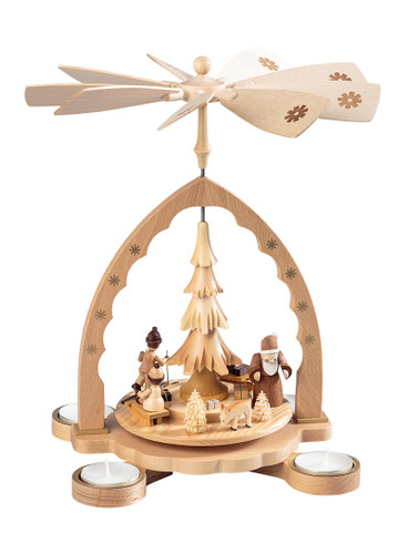 Santa and Sport Kids TeaLight Carousel Pyramid PYR160X82