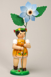 Orange Flower Girl Figurine