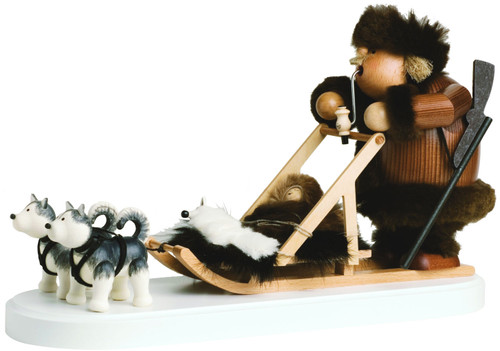 Eskimo with Dog Sled German Smoker SMK216X53