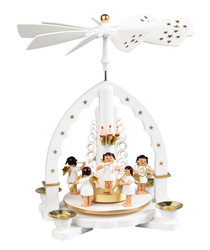 White Musical Orchestra Angels Carousel Pyramid PYR160X51