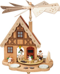 Angels Baking Bakery German House Tealight Carousel Pyramid PYR162X43