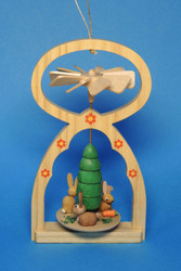 Mini German Pyramid Ornament Rabbits Bunnies ORR117X12