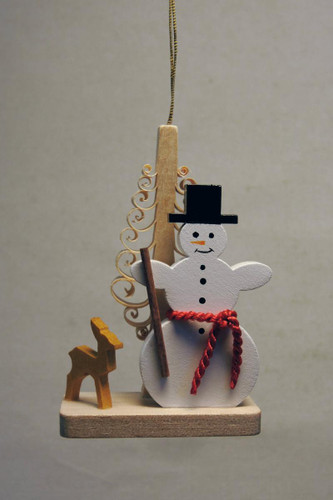 Snowman Tree Deer Christmas German Ornament ORR133X22