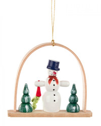 Snowman with Carrot Arch German Ornament ORD199X251X7