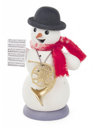 Musical Snowman French Horn German Smoker SMD146X1267X24