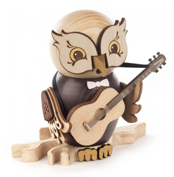 Whimsical Owl with Guitar Music German Smoker SMD146X1670X20