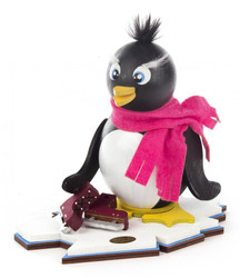 Penguin with Ice Skates German Smoker  SMD146X771X70
