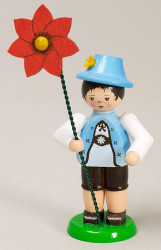 Red Poppy Boy Figurine
