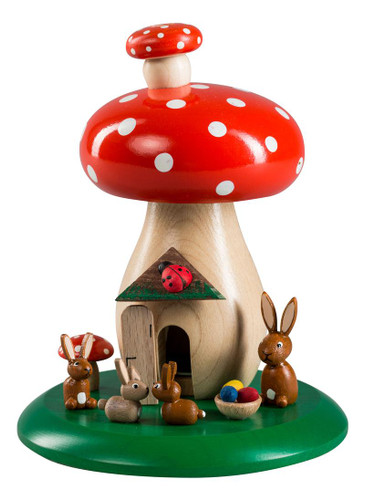 Bunny Dotted Red Mushroom German Smoker SMR265X29