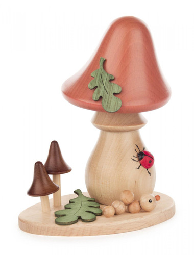 Natural Mushroom with Oak Leaf German Smoker SMD146X360X04