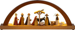 LED Nativity Figures Christmas German Arch Schwibbogen CHR010X91