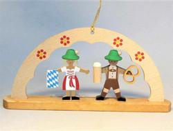 Beer Lovers Oktoberfest Bavarian German Ornament ORR136X78