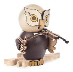 Whimsical Owl with Violin Music German Smoker SMD146X1670X22
