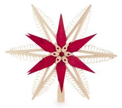 Star Tree Topper RED Star German Ornament ORD216X014X1