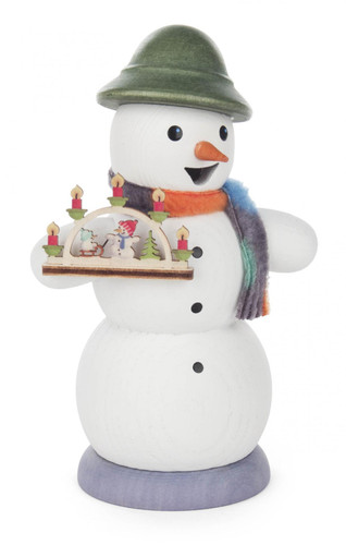 Snowman with Christmas Arch German Smoker SMD146X1267X26