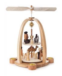 German Christmas Nativity TeaLight Pyramid PYD085X573