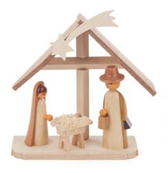 Wooden Nativity German Figurine  FGD074x471x1N