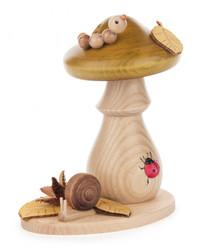 Mushroom with Caterpillar and Ladybug German Smoker SMD146x360X02