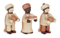 Wooden German Three Wiseman Handmade Figurines